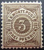 WURTEMBERG                 N° 58                         NEUF* - Wurttemberg