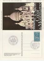Cachet Commémoratif La Place Du Tertre à Six Cents Ans Paris 24/9/1986 Sur Beau Document Sacré Coeur Montmartre - Cachets Commémoratifs