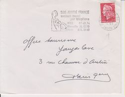 1969 France 06 Alpes Maritimes Nice - N. Dame Flamme 'SOS Amitie, Secours Moral Par Telephone' - Postmark Collection (Covers)