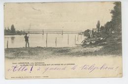 LANGOIRAN - Le Grand Pont Métallique Sur Les Bords De La Garonne - Autres Communes