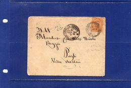"""##(DAN182) -27-10-1884- Annullo Numerale A Barre (218) + Tondo """"Amb.Ventimiglia-Genova"""" Su Busta Con Contenuto Per Pegli - 1878-00 Humbert I."""