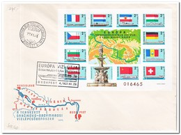 Hongarije 1977, FDC, Donau-Main-Rhein-Schifffahrt ( Unperforatet ) - FDC