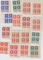FRANCE - LOT DE 16 BLOCS DE 4 PETAIN DONT 10 COINS DATES - BELLES NUANCES A VOIR  / 6849 - Nuevos