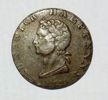 GREAT BRITAIN - BRUNSWICK - HALF Penny Token ( 1794 ) / Copper - Monetary/Of Necessity