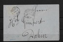 SITZENDE HELVETIA Gezähnt  →  Briefstück Von Rosch & Denner Zürich ►SBK-28◄ - 1862-1881 Helvetia Assise (dentelés)