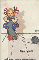 """AK Künstlerkarte, Dora Heckel: """"FÜR VATERN"""" 1917 - Otros Ilustradores"""