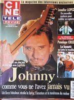 Ciné Télé Revue N°8 (22 Fév 2001) Johnny Hallyday- Jennifer Lopez - P. Cruz - Televisie