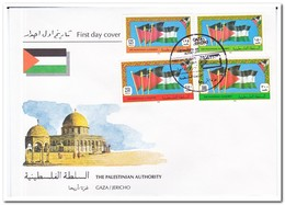 Palestina 1994, FDC, Flags - Palestina