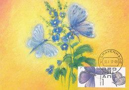 D32800 CARTE MAXIMUM CARD RR 2017 NETHERLANDS - PLEBEJUS ARGUS BLUE BUTTERLFLY PAPILLON CP ORIGINAL - Vlinders