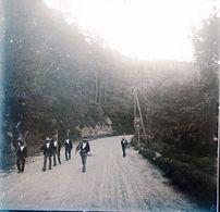 PHOTO ORIGINALE STEREOSCOPIQUE SUR PLAQUE DE VERRE 1924 FINISTÈRE HUELGOAT LES MOISONNEURS  (  129 ) - Photos Stéréoscopiques