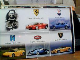 MODENA PILOTA FERRARI CON AUTO CAR SPIDER E MASERATI DE TOMMASO BUGATTI  LAMBORGHINI  N2010  GO21887 - Turismo