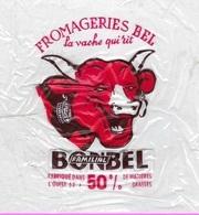étiquette Fromage  Feuille Transparente  La Vache Qui Rit Fromagerie Bel Bonbel Familial - Cheese