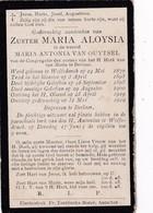 Zuster,soeur, Maria Van Ouytsel,Wolfsdonk,Berlaar,Berlaer,1919 - Religión & Esoterismo