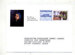 Pap Reponse  Grotte De Lourdes  Association Diocesaine Illustre Sainte Bernadette - Entiers Postaux