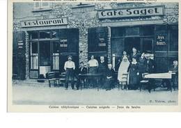 Cpa-Charnècle(38)-café Restaurant Saget(belle Animation) - France