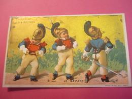 5 Chromos Du 19éme Siécle /Soldats /Chocolat Guérin Boutron/Bd Possonniére PARIS/Vallet-Minot/vers 1880-1890      IMA246 - Guerin Boutron