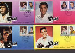 Lot Of 4 ELVIS PRESLEY FDCs  -  1e Jour D'Emission  -  4 X FDC - Elvis Presley