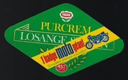 étiquette Fromage   Purcrem Losange 1 Badge Moto Géant - Fromage