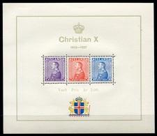 RC 7129 ISLANDE BF N° 1 JUBLILÉ DU ROI CHRISTIAN X COTE 90€ NEUF ** - Blocks & Sheetlets