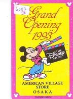 Télécarte JAPON * 110-138901 * DISNEY STORE (6087b) PHONECARD JAPAN * Telefonkarte GRAND OPENING * TIRAGE 2.000 AMERICAN - Disney