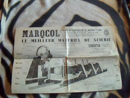 Publicitée Ancienne  Travail Du Bois   MARQCOL Usine A Moulins S/ Alliers Materiel De Scierie Divers - Autres