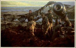 GUERRE DES MALOUINES - Angleterre - Argentine - Série War In The South Atlantic - Canon - Artillerie - Militaria