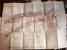CARTE DE L' ALGERIE ET TUNISIE En 1885 D'après Les Documents Fournis Par Le Dépot De La Guerre - Cartes Géographiques