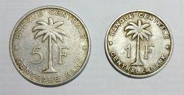 CONGO BELGA / CONGO BELGE - 1 Franc (1957) & 5 Francs (1958) RUANDA / URUNDI - Lot Of 2 Different Coins - Congo (Belgian) & Ruanda-Urundi