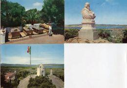 Lotto 3 Cartoline LA MADDALENA CAPRERA: TOMBA DI GARIBALDI, MONUMENTO A GARIBALDI, CASA DI GARIBALDI ANNI '60/70 - P1- - Italia