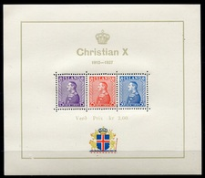 RC 7130 ISLANDE BF N° 1 JUBLILÉ DU ROI CHRISTIAN X COTE 90€ NEUF ** B/TB - Blocks & Sheetlets