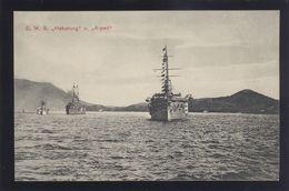 CROATIA POLA AUSTRIA WAR SHIP SCHIFFE S.M.S. HABSBURG & ARPAD OLD PC #79 - Guerra