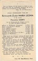 Zuster,soeur, Florentina Geerts, Wolfsdonk, Langdorp,Berlaar,Webbekom,1952 - Religión & Esoterismo