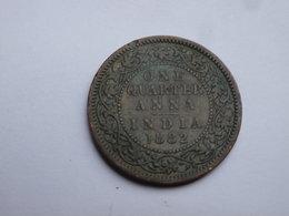 Inde Brittanique    Quarter Anna  1882 Calcutta   TTB     Victoria           Km#486 - Indien