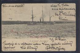 CROATIA POLA AUSTRIA WAR SHIP SCHIFFE S.M.S. FRUNDSBERG OLD PC #81 - Guerra