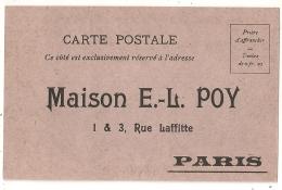 MAISON POY. MODE ILLUSTREE CARTE POSTALE NEUVE. PARIS. - Vieux Papiers