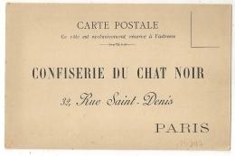 CONFISERIE DU CHAT NOIR. CARTE POSTALE NEUVE. PARIS. - Vieux Papiers