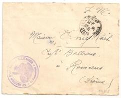 CASABLANCA POSTES MAROC. 32e SECTION D'INFIRMIERS MILITAIRES. - Marcophilie (Lettres)