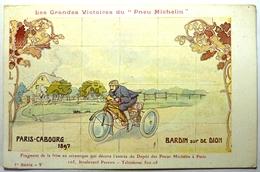 """PARIS - CABOURG 1897 - BARDIN SUR DE DION - LES GRANDES VICTOIRES DU """" PNEU MICHELIN """" - Sport Moto"""