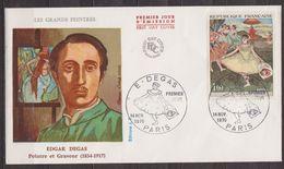 Art, Peinture, Peintres Impressionnisme - FRANCE - Degas: Danseuse Au Bouquet Saluant - N° 1653 - 1970 - Storia Postale
