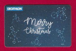 Carte Cadeau. Gift Card.   DECATHLON Belgique.   Merry Christmas. - Gift Cards
