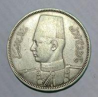 EGYPT / EGITTO - FAROUK - 5 PIASTRES (1939) AG - Silver - Egitto