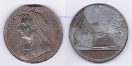 1897 VICTORIA VERY LARGE/HEAVY MEDAL 60 TH. ANNIV. OF REIGN  BRASS  LAITON  SUPERB & AVERAGE SEE SCANS - Royaux/De Noblesse