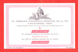 BUVARD Assurance Generale Pour La Vie - Banque & Assurance