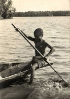 CAMEROUN En Pirogue à L'Estuaire Du Wouri Recto Verso - Cameroon