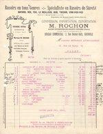 38 ST ETIENNE DE SAINT GEOIRS GRENOBLE  FACTURE 1917 RASOIRS De Sûreté BAYARD REX .lames MARQUE ROCHON   *  Z68 - 1900 – 1949
