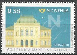 SI 2018-03 NATIONAL GALLERY , SLOVENIA, 1 X 1v, MNH - Slowenien