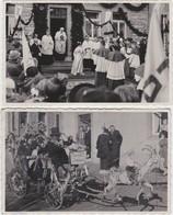 RAEREN-2 CARTE-PHOTOS-MANIFESTATION-CORTEGE-NOCES D'OR?-1953-FOTO CROTT-RARE-VOYEZ 2 SCANS - Raeren