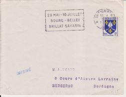 1955 France 01 Ain Bourg-en-Bresse Bourg - Belley Brillant-Savarin Fromage Cheese - Postmark Collection (Covers)