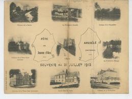 AHUILLÉ - Fête De Jeanne D'Arc - 21 Juillet 1912 - Carte Double Avec Vues Multiples - France