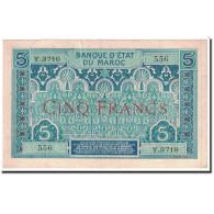 Billet, Maroc, 5 Francs, 1924, Undated, KM:9, SUP - Maroc